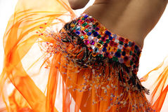 Orange belly dancer Royalty Free Stock Photo