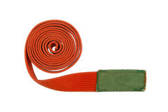 Orange belt isolated Royalty Free Stock Photo