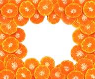 Orange Beschaffenheit, lokalisiert auf weißem Hintergrund Stockfotografie