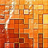 orange beträffande s tegelplattor för badrum Fotografering för Bildbyråer