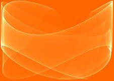 Orange bewegt Hintergrund wellenartig stock abbildung