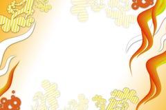 Orange bewegt rechte Seite und Blätter, abstrakten Hintergrund wellenartig Stockbilder