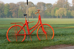 Orange bicycle Royalty Free Stock Images