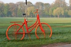 Orange Bicycle Royalty Free Stock Images