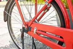 Orange bicycle, Bicycle Spokes Royalty Free Stock Images