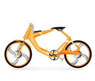 Orange bicycle concept design Royalty Free Stock Images