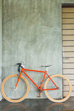 Orange bicycle parked decorate interior living room modern style Royalty Free Stock Photos