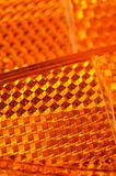 Orange Bicycle Retroreflectors Royalty Free Stock Photo