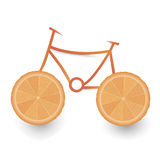 Orange bicycle Royalty Free Stock Photography