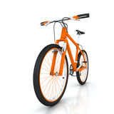Orange bicycle Royalty Free Stock Photos