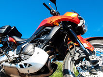 Orange bike Stock Photo