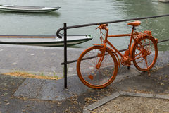Orange_bike-1 photo libre de droits