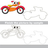 Orange bike. Drawing worksheet. Stock Photos