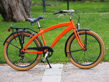Orange bike Stock Photo