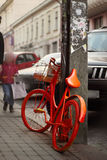 Orange bike Stock Photography
