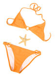 Orange Bikini stock image