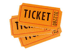 Orange biljetter arkivbild