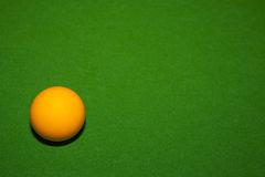 Orange billiard ball Royalty Free Stock Photos