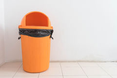 Orange bin Royalty Free Stock Photography
