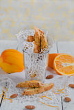 Orange biscotti Royalty Free Stock Images