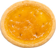 Orange Biscuit. Orange Cream Filled Biscuit Isolated On White stock photography