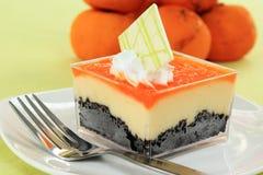 Orange Biscuit cake Stock Photo