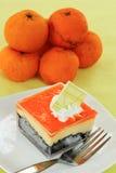 Orange Biscuit cake Layer Royalty Free Stock Images