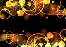 Orange and black abstract  background Royalty Free Stock Images