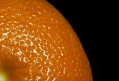 Orange on the black background Stock Images