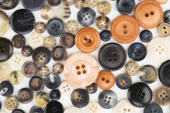 Orange and Black Button Texture Stock Photography
