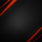 Orange and black carbon fiber background. 3d illustration material design. racing style royalty free illustration