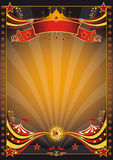 Orange and black circus poster Royalty Free Stock Photo