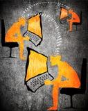 Orange on black digital communication concept Royalty Free Stock Image