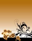 Orange & Black Floral Layout vector illustration