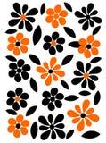 Orange and black flowers background Royalty Free Stock Photo