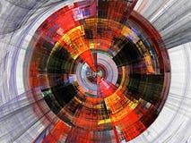 Orange and black fractal royalty free illustration