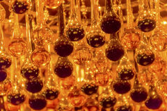 Orange Black Glass Drops Chandelier Royalty Free Stock Photos