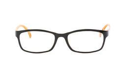 Orange-black glasses on white background Stock Photo