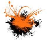 ORANGE BLACK GRUNGE ABSTRACT. Orange and black grunge elements on white background vector illustration