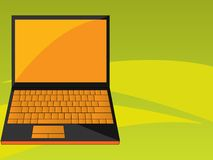 Orange black laptop Royalty Free Stock Image