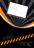 Orange and black layout. An orange and black design layout or background with the word groove Stock Photos