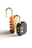 Orange and black lock Stock Photo