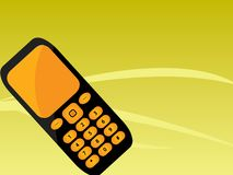 Orange black mobile phone Stock Image