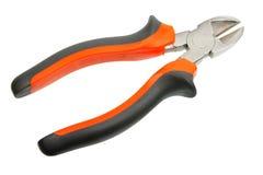 Orange-black pliers. Stock Photos