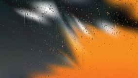 Orange and Black Raindrop Background Image. Beautiful elegant Illustration graphic art design royalty free illustration