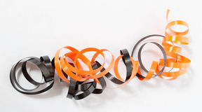 Orange and Black Ribbon Stock Image