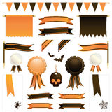 Orange and black ribbons stock illustration