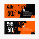 Orange and black Sale coupon Stock Photos