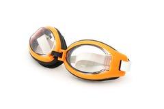 Orange and black swimming plastic goggles Stock Photo