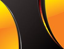 Orange_and_black_tech_background Stock Photos